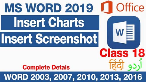 How-to-Insert-Charts-and-take-screenshot-in-MS-World-2019-in-Urdu-Hindi-Class-18