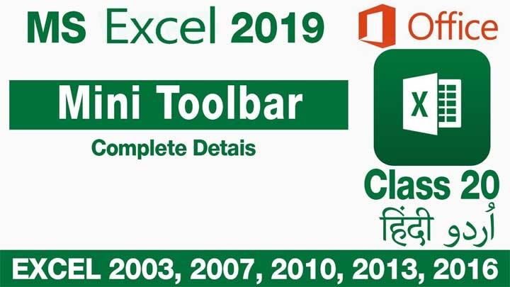 Microsoft-Excel-For-Beginners-in-Urdu-Hindi-Mini-Toolbar-and-Option-Menu-Class-20