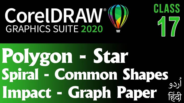 CorelDraw-for-Beginners-Complete-Course-Polygon-Star-Impact-Common-Shapes-Class-17