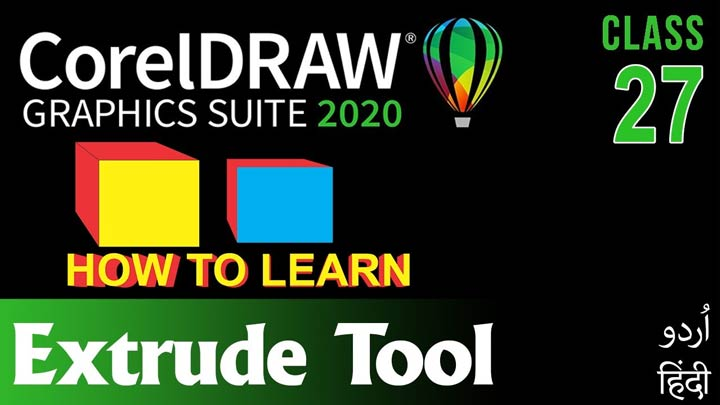 CorelDraw-for-Beginners-Complete-Course-in-Urdu-Hindi-How-to-Use-Extrude-Tool-Class-27