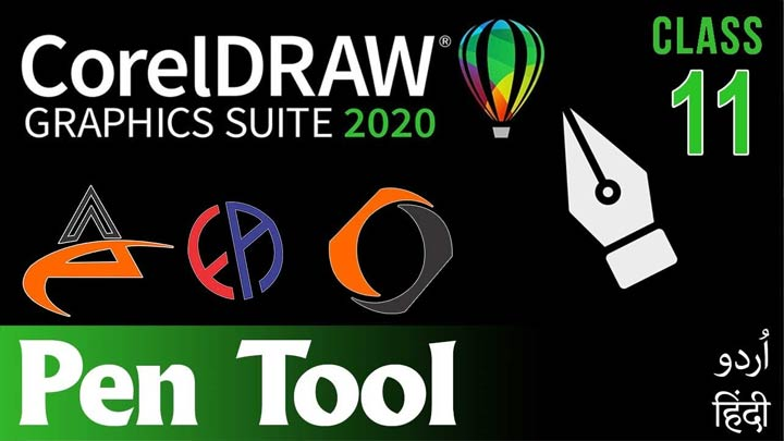 CorelDraw-for-Beginners-Complete-Course-in-Urdu-Hindi-Pen-Tool-How-to-Make-Logo-Class-11