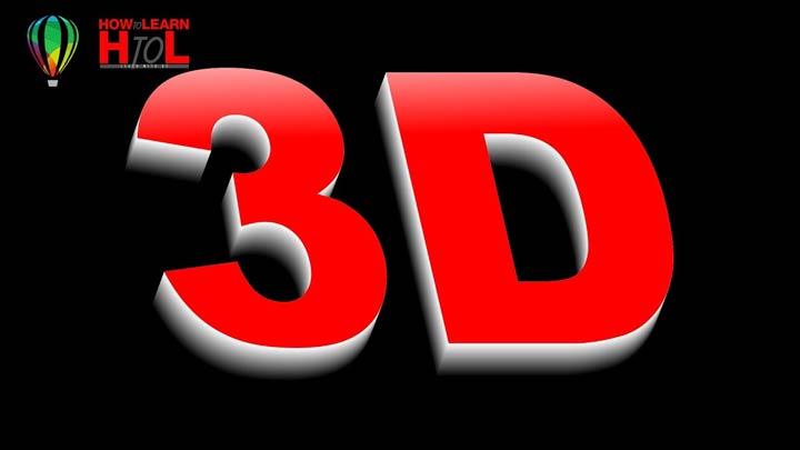 How-to-Make-3D-Text-Effect-in-CorelDraw-in-Urdu-Hindi-3D-Text-in-CorelDraw