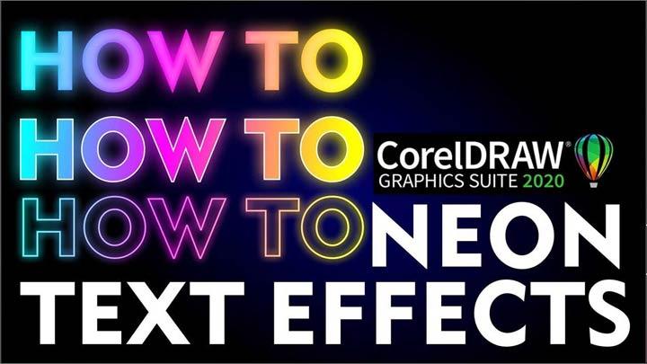 Neon-Effect-in-CorelDraw-in-Urdu-Hindi-How-to-make-Neon-Text-Effect-in-CorelDraw