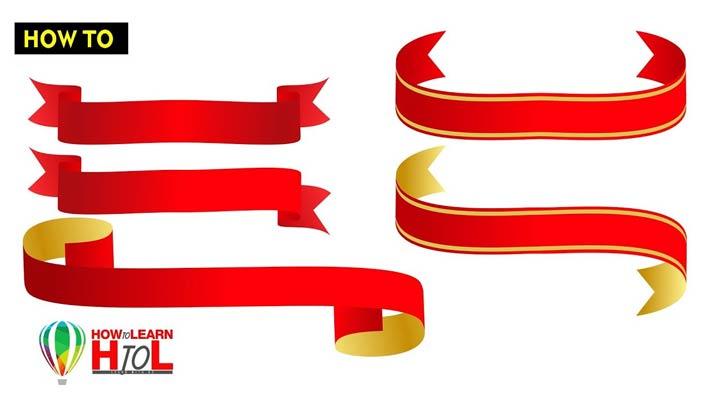 How-to-Make-Ribbons-in-CorelDraw-in-Urdu-CorelDraw-Tips-and-Tricks-Videos
